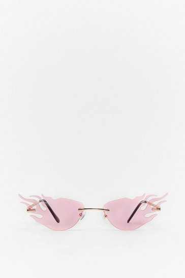 Pink Black Flame Sunglasses