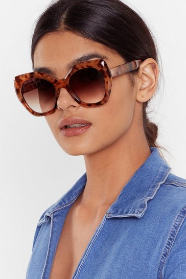 Brown Go Big Oversized Tortoiseshell Sunglasses