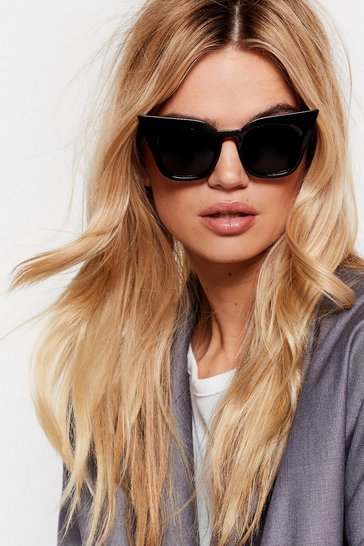 Black We See Your Point Tinted Cat-Eye Sunglasses