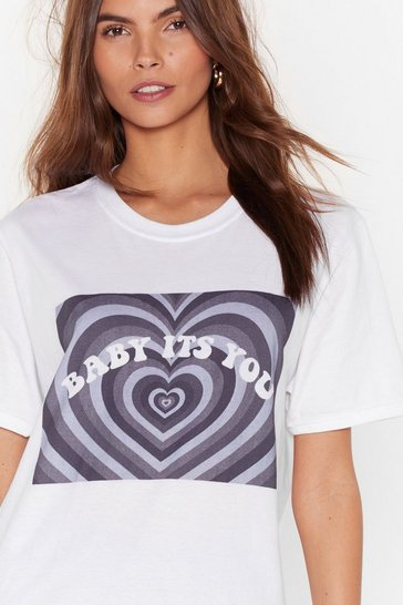 White Baby It's You Graphic Tee