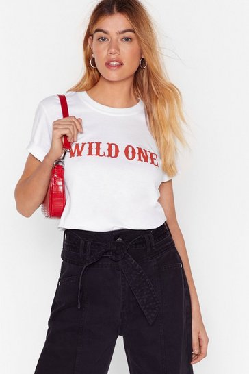 White Baby I'm a Wild One Graphic Tee