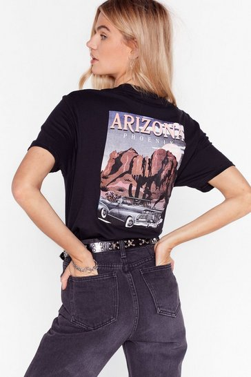 Black I'd Never Desert You Arizona Graphic Tee
