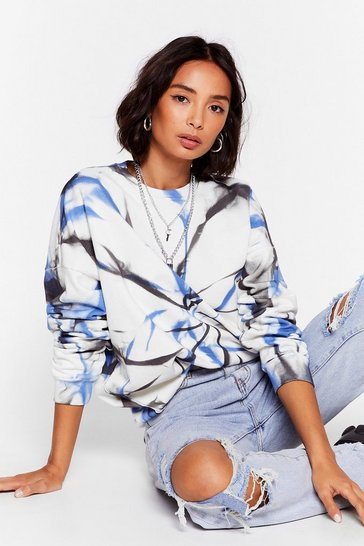 Grey Lookin' Groovy Oversized Tie Dye Sweatshirt