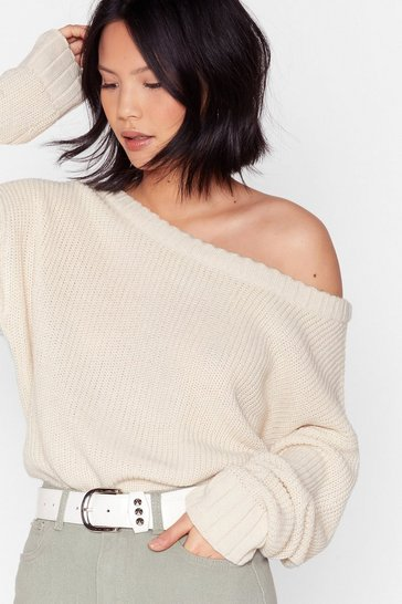 Oatmeal Knit's My Way Slouchy Sweater