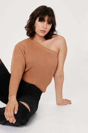 Tan What's Knit to Love Relaxed Sweater