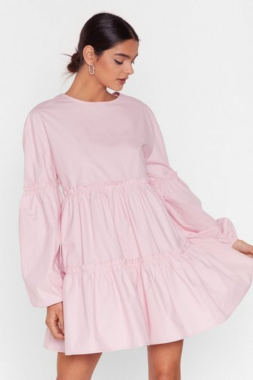 Bubblegum State of Smock Relaxed Mini Dress