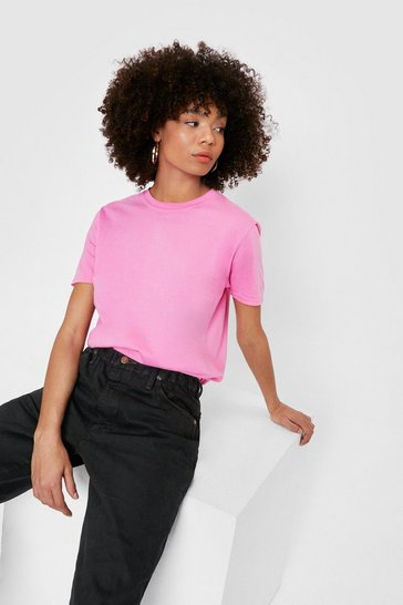 Pink Face the Facts Relaxed Tee