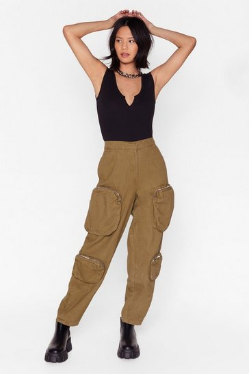 Olive And They Have Pockets Utility Pants