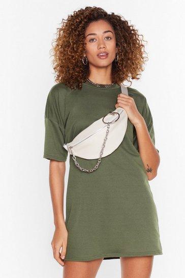 Khaki Recycled Between You and Tee Mini Dress