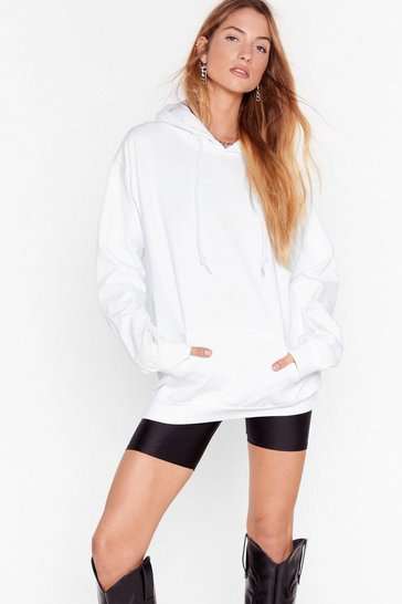 White Keep It Chill Oversized Hoodie