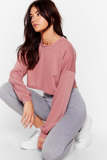 Rose Recycled Don't Crop Moving Crew Neck Sweatshirt