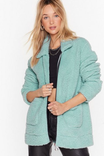 Mint Faux Shearling Not Relaxed Jacket