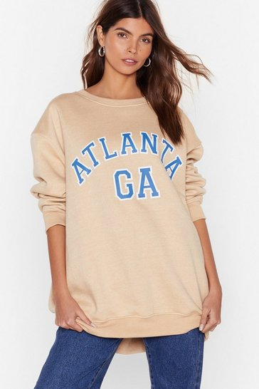 Sand Take Me Back to Atlanta Oversized Sweatshirt