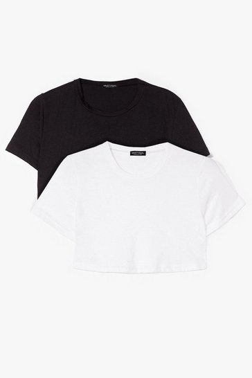 Blackwhite Start With the Basics 2-Pc Cropped Tees