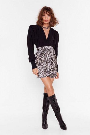 Nude Feeling Fiesty Leopard Mini Skirt