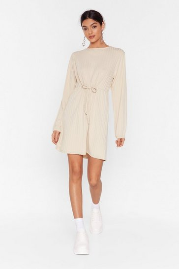 Stone Rib Roaring Fun Mini Dress