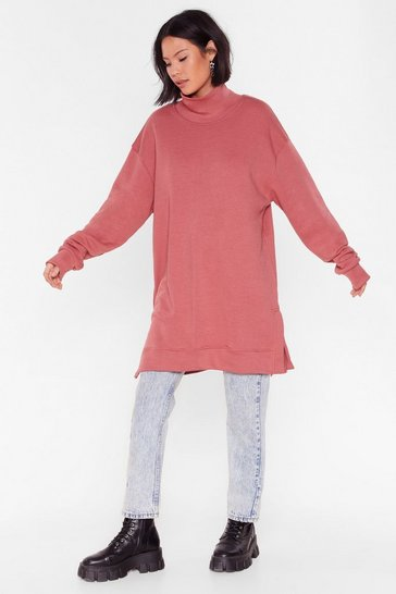 Plum It's Knit Up to You High Neck Sweater