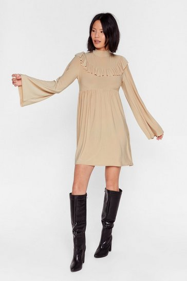 Stone You're Frill the One Relaxed Mini Dress