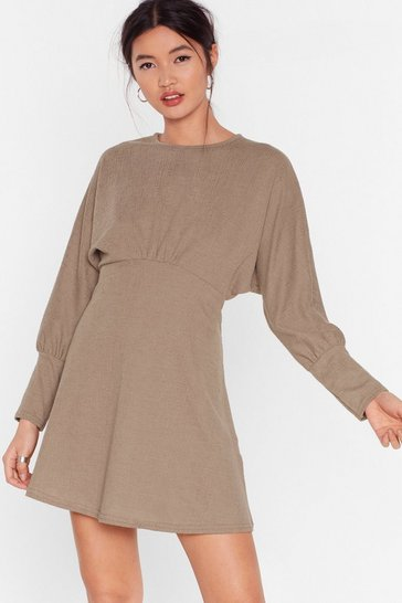 Stone Swing Into Action Cut-Out Mini Dress