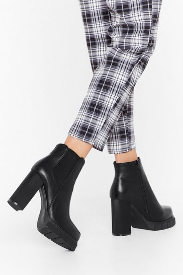 Black Raise the Alarm Platform Chelsea Boots