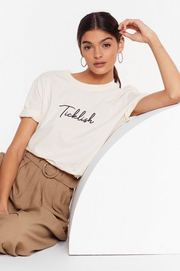 Natural Stop It I'm Ticklish Graphic Tee