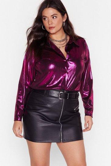 Pink Melting Magnets Plus Metallic Shirt