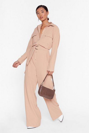 Stone Put Your Back Into It Utility Belted Jumpsuit