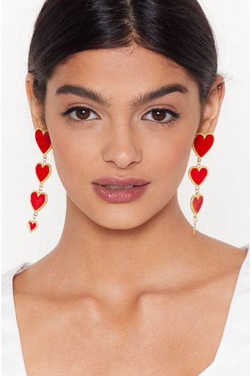 Red Heart to Hear Tier Earrings