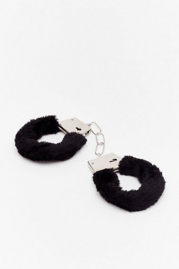 Black Call the Cops Faux Fur Handcuffs