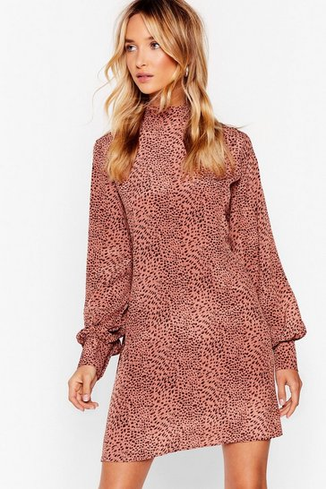 Pink Lookin' Fierce Animal Mini Dress