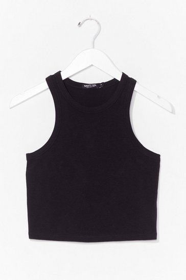Black Racer Against Time Crew Neck Cropped Vest