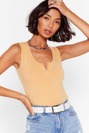 Nude Take It Up a Notch High-Leg Bodysuit