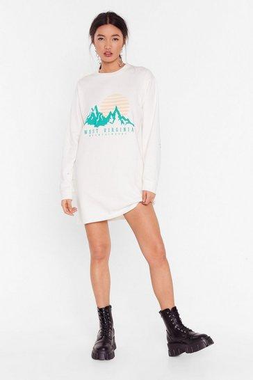 Natural Take Me Home Virginia Graphic Sweatshirt Dress