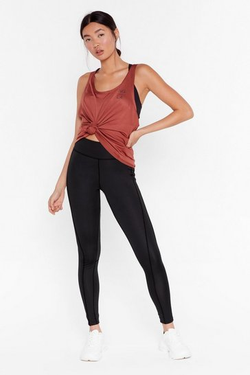 Black Renew You High-Waisted Workout Leggings