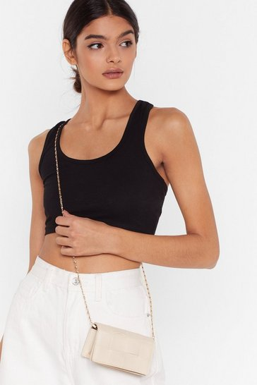 Stone WANT The Woven One Faux Leather Crossbody Bag