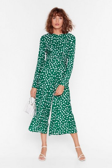 Forest Dot Ready to Go Polka Dot Jumpsuit