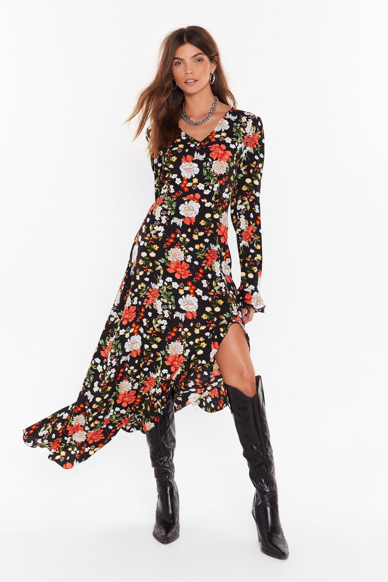It Roots You Floral Maxi Dress