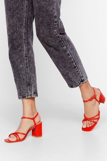 Tomato Headin' to Strappy Hour Heeled Sandals