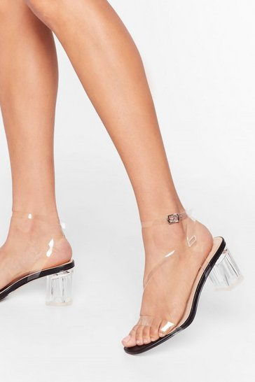 Black A Clear Vision Low Block Heels