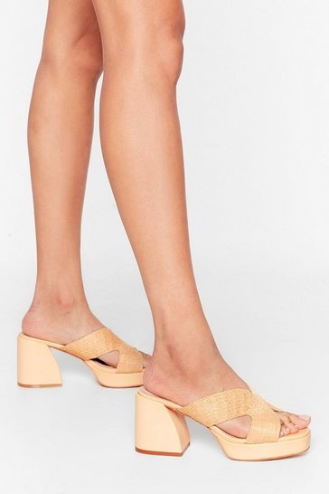 Natural Flare to Join Us Woven Platform Mules