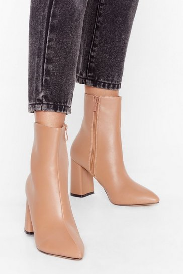 Nude Hey Sole Sister Faux Leather Heeled Boots