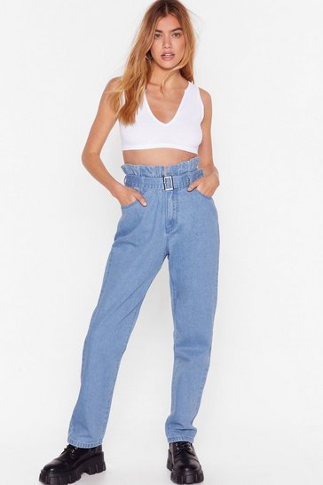 Vintage blue It's in the Paperbag Denim Mom Jeans