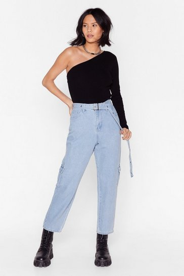 Mid blue Wash's Next High-Waisted Utility Jeans