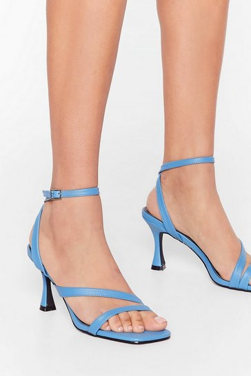 Blue Louis Heel the Power Strappy Sandals