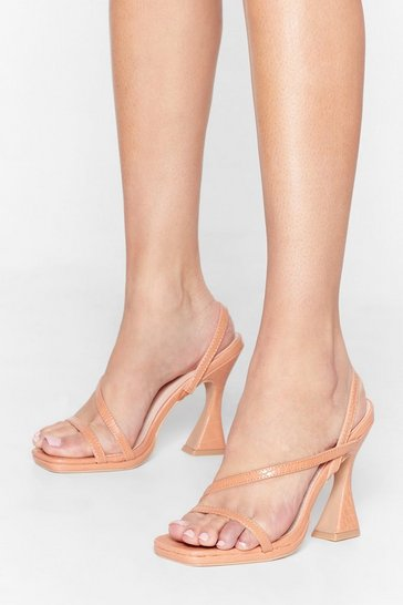 Nude Croc Everything Faux Leather Stiletto Heels