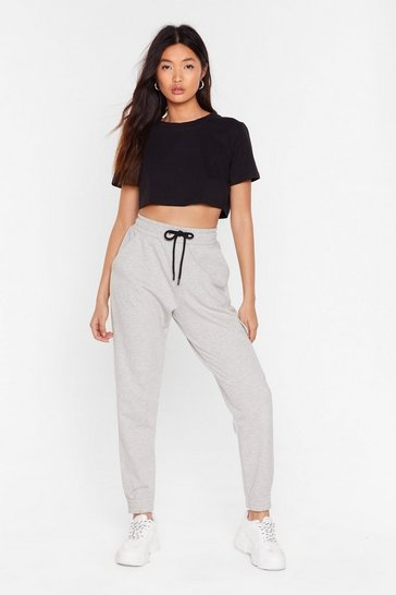 Grey marl Better in the Long Run Cargo Joggers