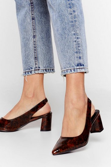 Brown Tort We'd Seen Everything Slingback Heels