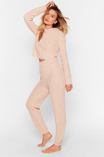 Nude We're Knit Finished With You Hoodie Lounge Set