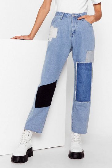 Blue Not Got a Patch on You High-Waisted Jeans