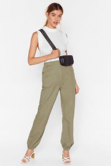 Khaki Make Room High-Waisted Denim Pants